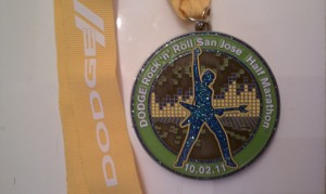 Finisher's Medal, 2011 San Jose Rock-n-Roll Half Marathon