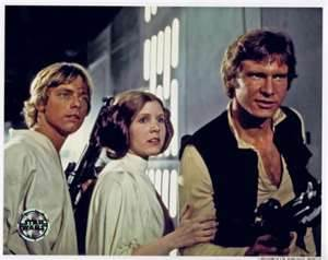 Picture of Luke Skywalker, Princess Leia, and Han Solo