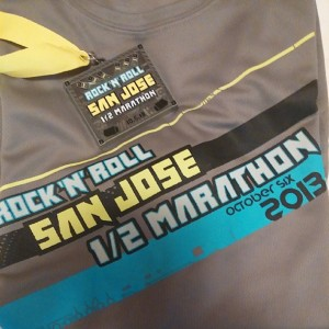 2013 RnRSJ Finisher's Medal and T-shirt